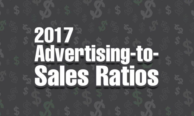 2017 ADVERTISING-TO-SALES RATIOS