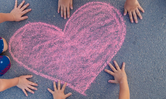 Children's Sidewalk Art of Hope and Unity