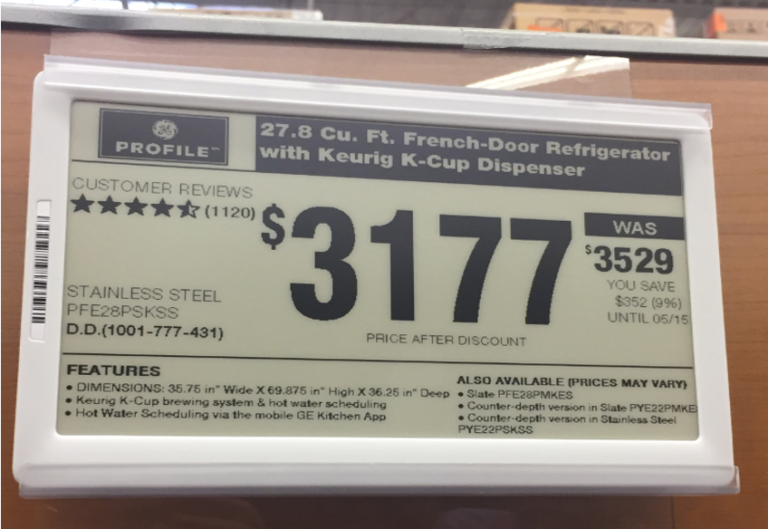 Nationwide Dealers Purchase Digital Price Tags Using Co-Op Dollars with New GE Appliances Program