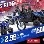 The Yamaha Let's Ride Holiday Sales Event!