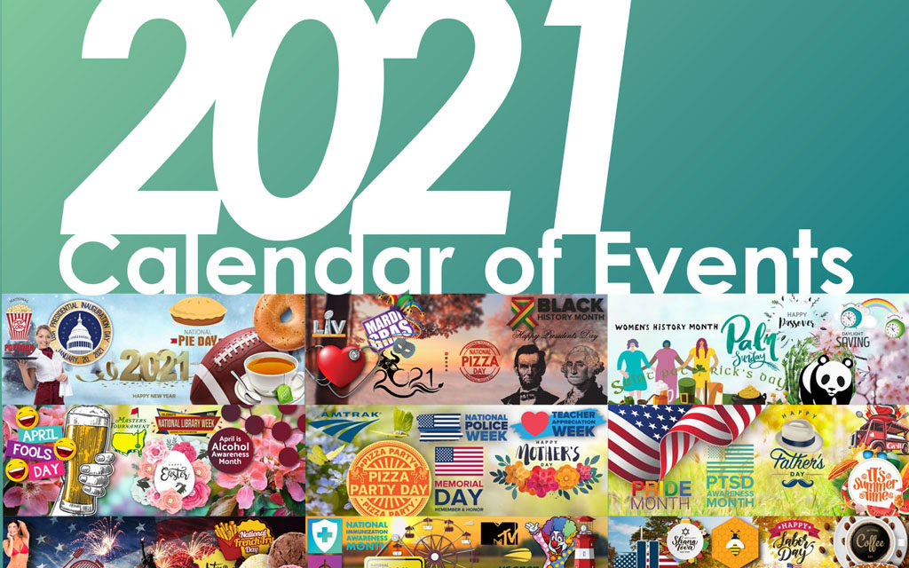 2021 Calendar of Events